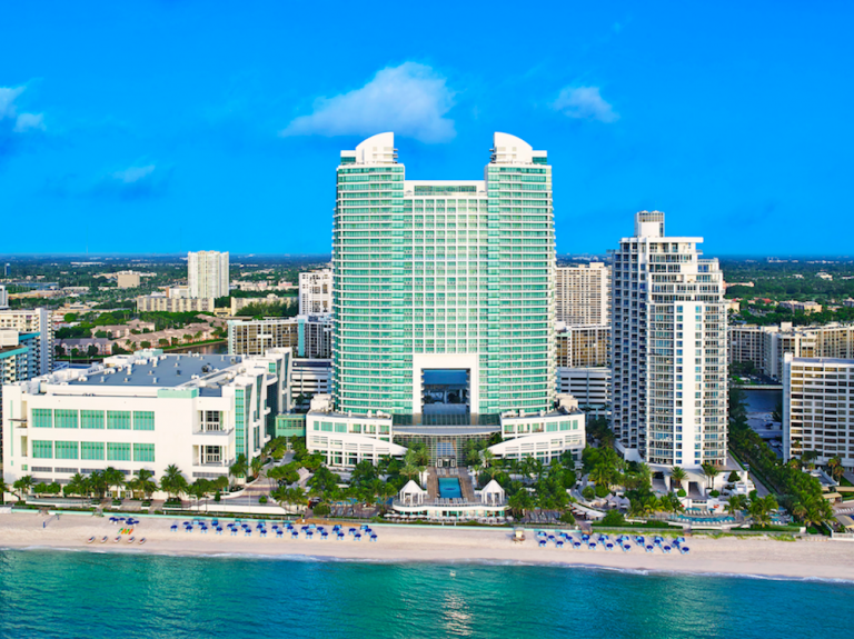 The posh Diplomat Beach Resort in South Florida