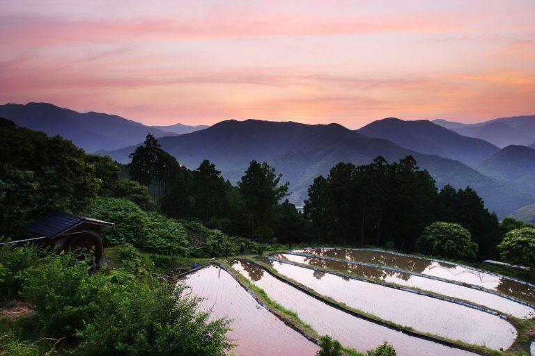 The Kii Mountains at dusk.