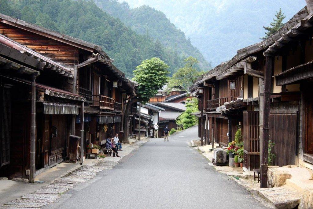 The Edo-period streets of Magome.
