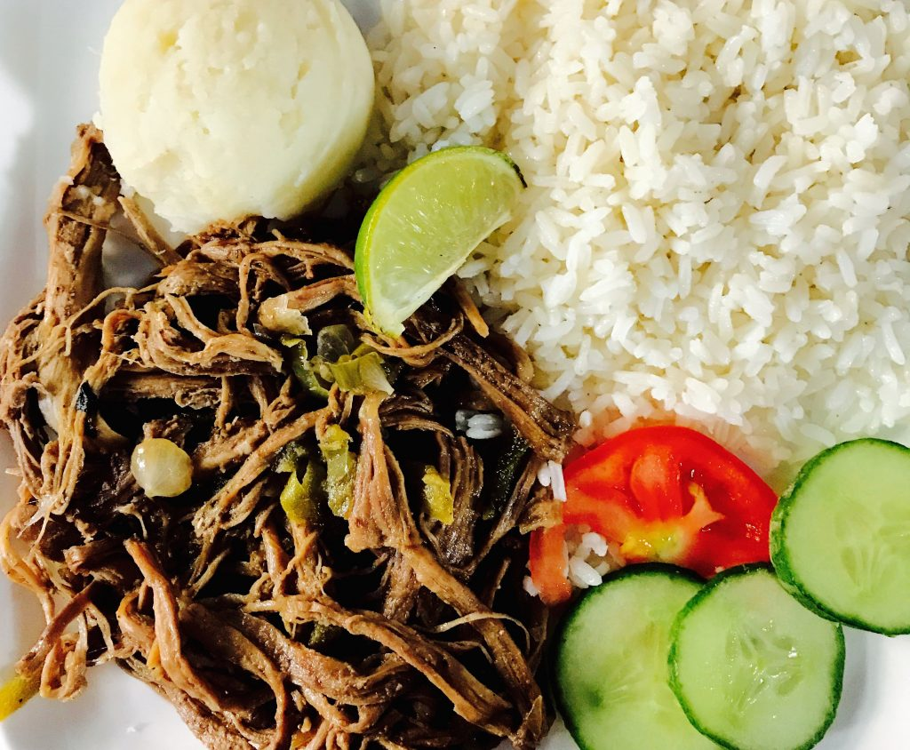 a classic Cuban dish consisting of seasoned stewed beef over rice.