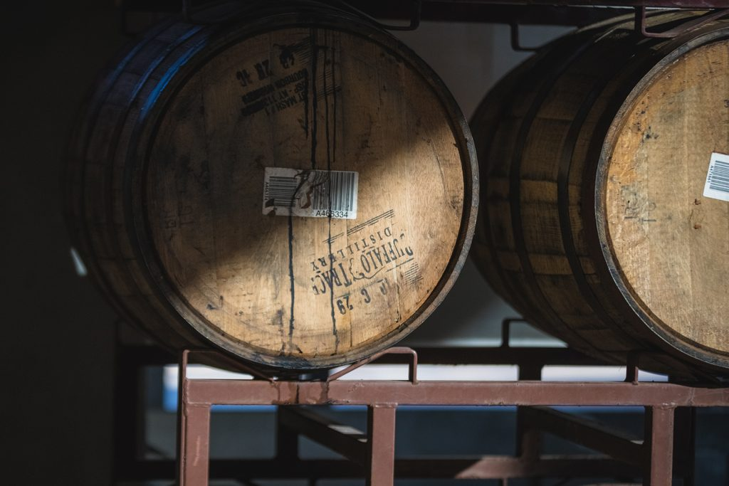 Barrels of wine.