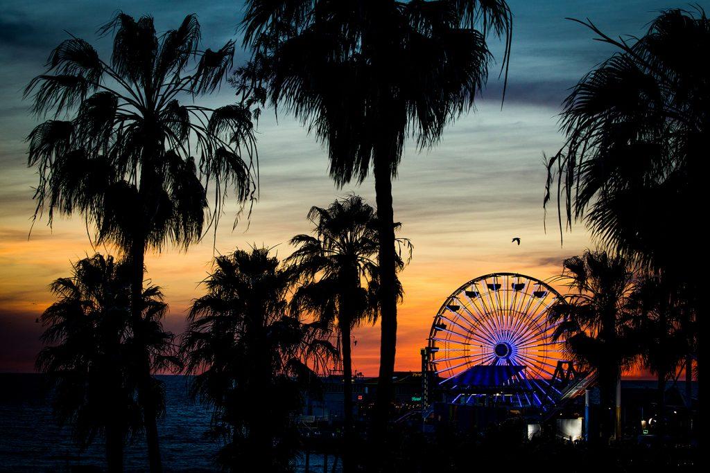 Sunset over the Santa Monica Pier