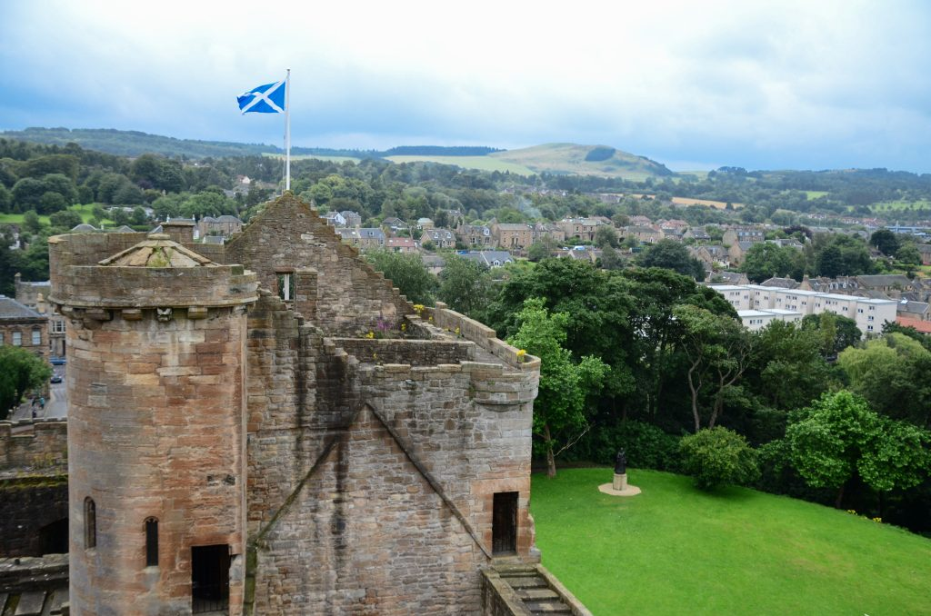 The view from the tower of Linlithgow Palace.