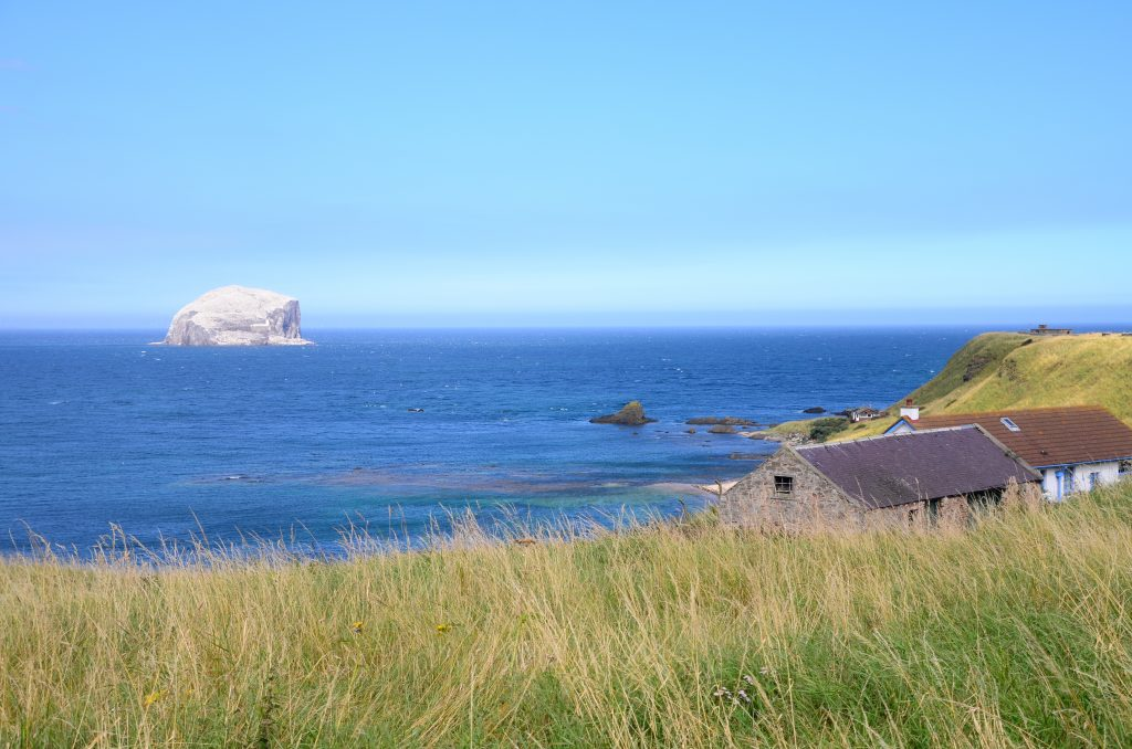 Bass Rock, located off the coast of North Berwick.