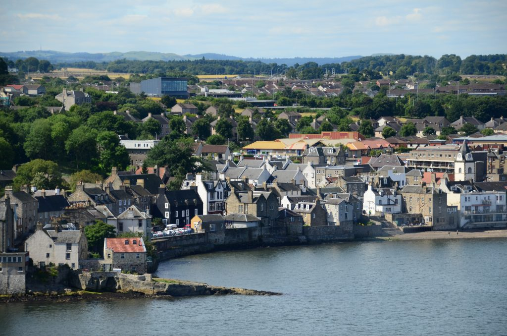 The picture-perfect seaside town of Queensferry.