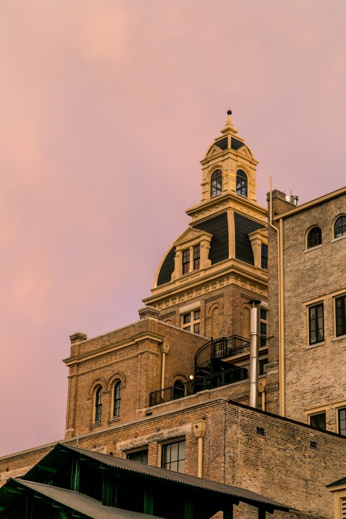 Scenes from the Hotel Emma, a 19th-century brewery-turned-chic boutique hotel in the heart of San Antonio.