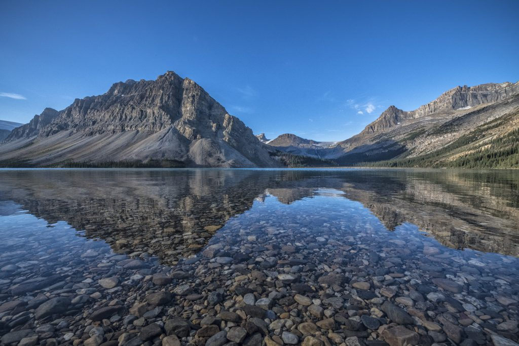 Early morning at Bow Lake, Alberta.