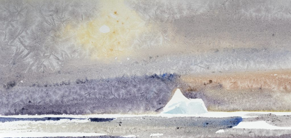 David McEown's watercolour painting of the Weddell Sea