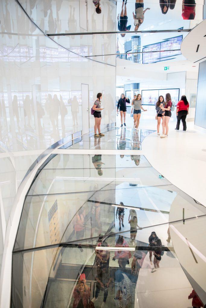 New glass floor, CN Tower