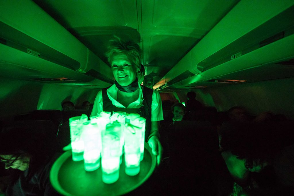 cocktail, flight, aurora borealis, yukon