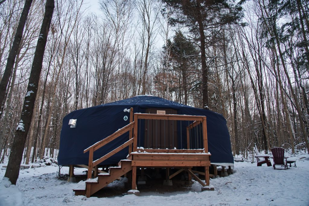 Woods Parka Lodge, Haliburton, yurt, Airbnb