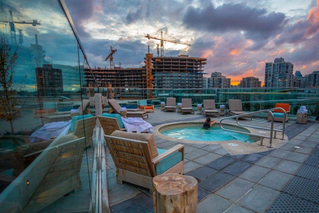 JW Marriott, rooftop pool, Vancouver, wellness
