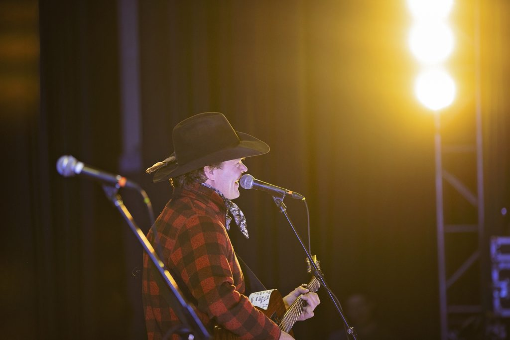 Canadian country music favourite Corb Lund croons a tune for a packed house at the Elko Convention Centre.