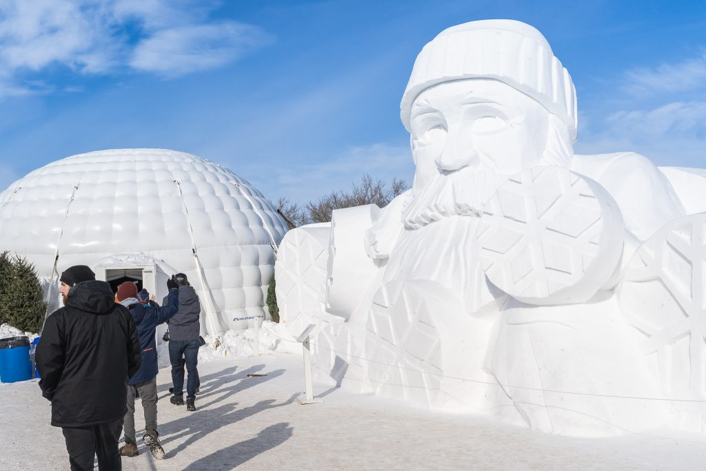 Snow sculpture at Voyageur Park, Winnipeg