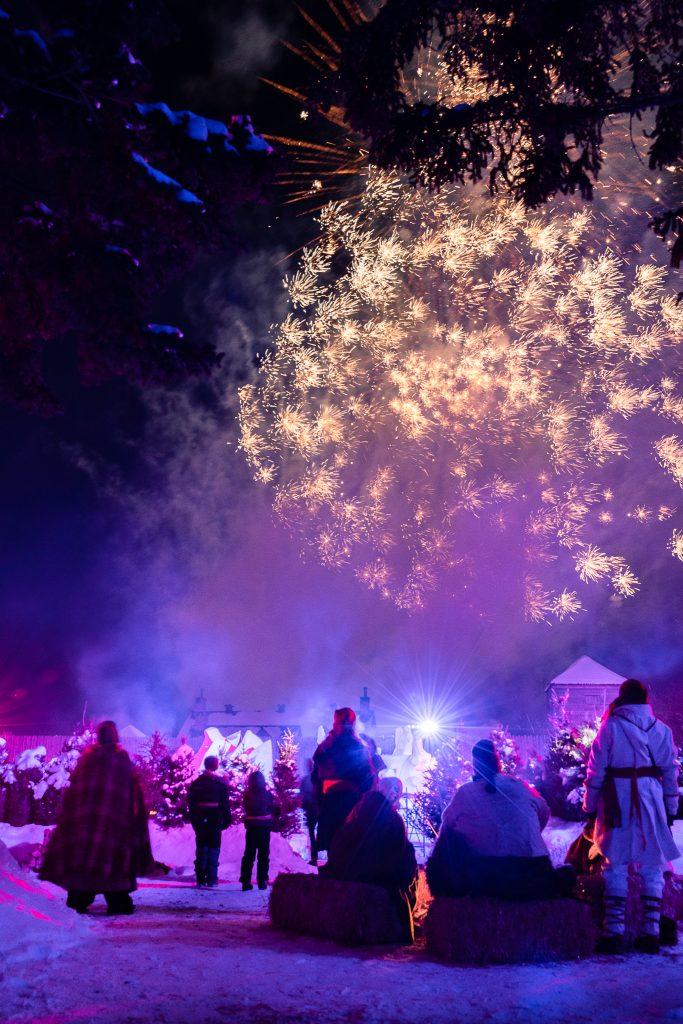 Fireworks at Festival du Voyageur