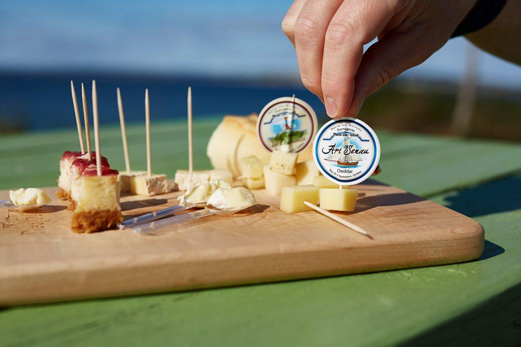 Cheese platter, Fromagerie du Pied-de-Vent, Magdalene Islands