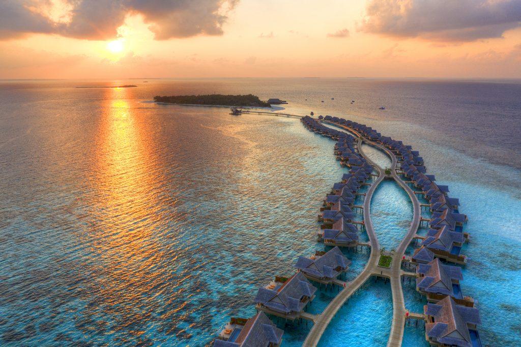 Joali, Maldives, Neil Dankoff, aerial, drone, over-water villas