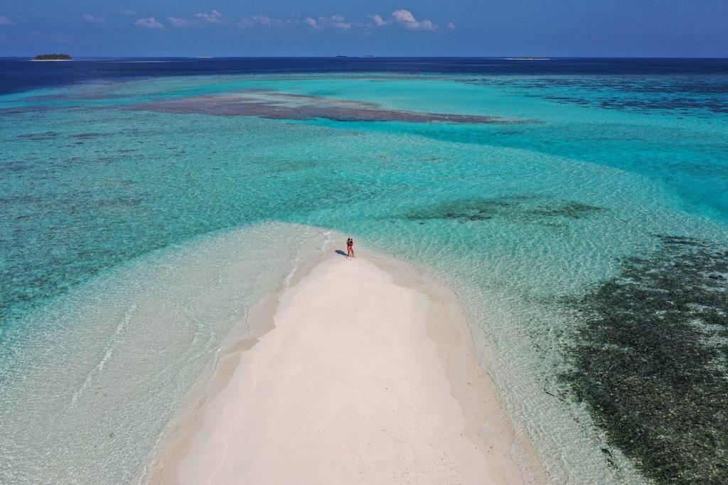 Joali, Maldives, Neil Dankoff, aerial, drone, kayak