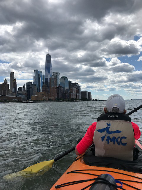 Manhattan skyline from kayak