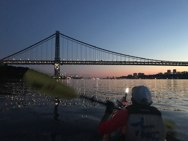 George Washington Bridge Manhattan kayak