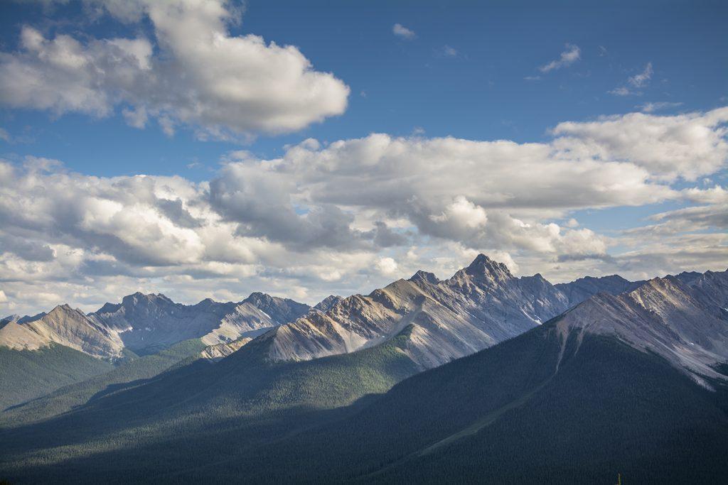 A vista of mountains