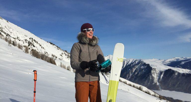 Laura Adams skiing in China