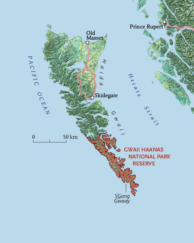 Map of Gwaii Haanas